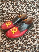 Vintage 80andrsquos Ussr Hammer And Sickle Dr Martens Oxford Boots Uk 9