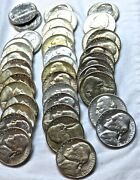 1940 - 1952 Jefferson Nickels_1 Roll / 40 Coins_all Bu__20 Different_some Silver