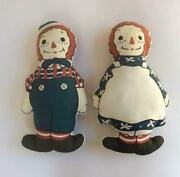 Raggedy Ann And Andy Anne Cushion Doll Character Goods Antique