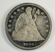 1846 1 Seated Liberty Dollar 90 Silver Numismatic Collectible Coin Jc3