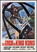 Destroy All Monsters Italian 2f Movie Poster 39x55 怪 獣 総 進 撃 Sci-fi...