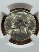1943-s 5c Jefferson Nickel Ngc Ms67+ Mint State Silver War Nickle Coin