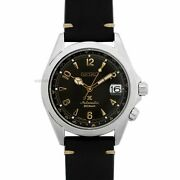 New Seiko Alpinist Brown Dial Stainless Leather Strap Menand039s Watch Spb209