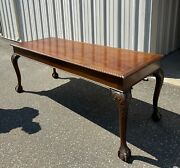 Denby And Spinks Of Leeds Oak Edwardian Library Table