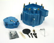 Pertronix D4002 Flame Thrower Gm Hei Distributor Blue Cap And Rotor Kit Brass Usa