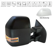 Primer Finish/chrome Right Side Door Mirror For 17-19 Ford Superduty Hc3z17682na