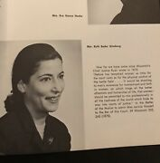 Ruth Bader Ginsburg - 1969 Rutgers Yearbook - As A Professor - 3 Photos Of Her