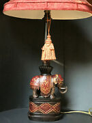 Elephant Table Lamp With Shade Classic Design 1light Vintage