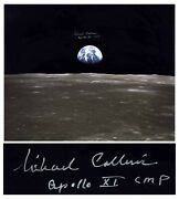 Michael Collins Signed 20 X 16 Photo Of The Earth Coa
