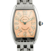 Franck Muller Watches 1752qz Silver Salmon Pink Stainless Steel Casablanca Used