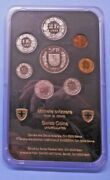 Switzerland 1993 Official Uncirculated 8 Coin Set Cased With Rare 5 Franc