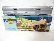 Vintage Athearn Santa-fe Streamlined Silver Baggage Car Ho Scale-with Orig Box-