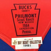 Boy Scout Neckerchief 1964 Buckand039s County Philmont Scout Ranch Expedition