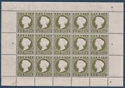 Gambia 1887/8 6d Full Pane Of 15 Stamps Mnh