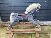 Vintage Wooden Rocking Horse By P.c And R Schaay Of Diss Norfolk