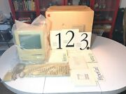 Apple Macintosh Classic M0420 Original Box, Manuals, Mouse And Keyboard Parts/read