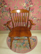 Tell City Cattail Cat Tail Arm Dining Room Chair Andover Maple Wood 8035
