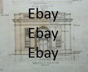Detroit Architect Charles Agree 1923 Dime Bank 12th And Pingree Original Drawings
