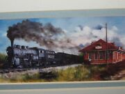 Constance Smith Shades Of Kansas Railroad Station And Train Artist Signed/framed