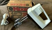 Vintage Ge General Electric 3-speed Portable Hand Mixer Coffee Almond M24
