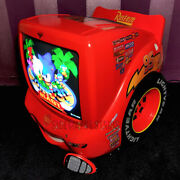 Disney Cars Tv Dvd Player And Remote Lightning Mcqueen Retro Gaming 13 Crt Tv Red