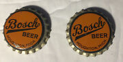 2-1930and039s Bosch Beer Bottle Caps Crowns Houghton Michigan
