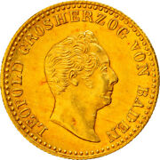[907118] Coin German States Baden Ducat 1846 Very Rare Ms60-62 Gold