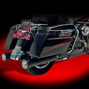 Supertrapp Megashot Exhaust System, Black For Harley Touring Baggers 827-71967