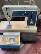 Vtg Singer Touch And Sew Sewing Machine Model 638 Tested With Zig Zag Kit Manual