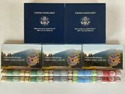 2004 2005 2006 U.s. Mint Nickel Rolls Coin And Medal Westward Journey Coin Sets