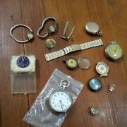Vintage Pocket Watches And Wrist Watches Parts Or Restore