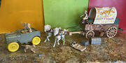 Roy Rogers Chuck Wagon And Jeep Toy Set With Original Box Almost Complete