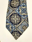 Tall And Big Men Necktie By The King Size Co. Brocton Mass. Usa Blue And Gray 62