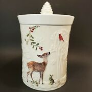 Better Homes - Winter Forest Deer - Heritage Collection Christmas Cookie Jar
