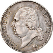 [907123] Coin France Louis Xviii 5 Francs 1821 La Rochelle Extremely Rare