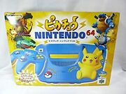 Pikachu Nintendo64 Blue And Yellow Body Manufacturer Discontinued
