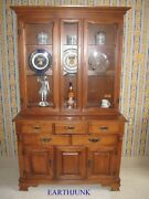 Tell City Hard Rock Maple Crown Bubble And Flat Full Glass 44 China Hutch