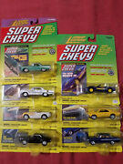 Lot Of Seven Johnny Lightning Super Chevy Die Cast Vehicles
