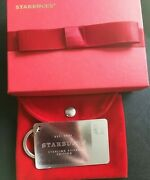 Starbucks Card 2014 Sterling Silver Keychain Limited Edition New