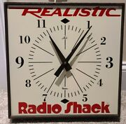 Vintage 1960and039s Radio Shack Realistic Promotional Advertising Wall Clock Lux Usa
