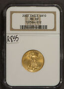 2000 1/4 Oz American 10 Gold Eagle Ngc Ms 69 Lotr855