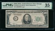 Ac 1934a 500 Five Hundred Dollar Bill Chicago Pmg 35