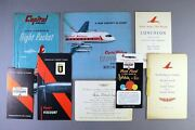 Capital Airlines First Vickers Viscount 1955 Ceremony Menu Invitation Brochure