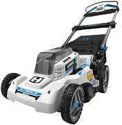 Self Propelled Electric Walk Behind Lawn Mower Cordless Brushless With Battery
