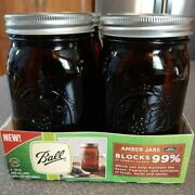 New Ball Quart Mason Amber Wide Mouth Canning Jars With Lids And Bands