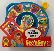 See N' Say Mattel The Farmer Says, Animal Sounds Vintage New In Box 1993