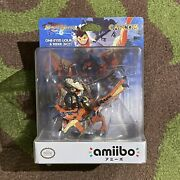 Monster Hunter Stories One-eyed Liolaeus And Rider Boy Amiibo Figure New Sealed
