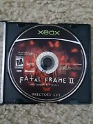 Fatal Frame 2 Crimson Butterfly Director's Cut Xbox Disc Only