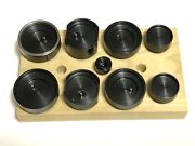 10 Piece Wheel Cup Tool Set For Lionel St 350 Chicago Rivet Press And Others Etc.