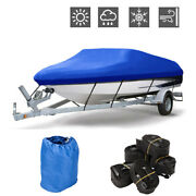 Oxford Fabric Waterproof Boat Cover For V-hull Runaboutsandbass Boats 20-22ft 600d